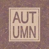 Herbsthintergrund mit Text Herbstfarben 9 Pastellfarben Lizenzfreies Stockbild