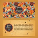 Herbsthintergrund mit Typografie Stockfotos