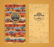 Herbsthintergrund mit Typografie Stockbild