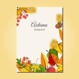 Herbsthintergrund-Vektorillustration Stockbild