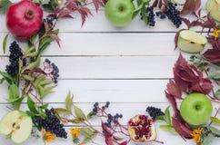 Herbsthintergrund von Blättern Lizenzfreie Stockfotografie