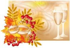 Herbsthochzeitsfahne Stockbild