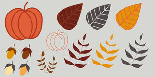Herbstillustrationssatz Stockfotografie