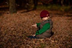 Herbstjunge Stockbilder