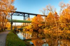 Herbstkanal Lizenzfreies Stockbild