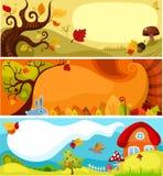 Herbstkartenset lizenzfreie abbildung