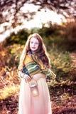 Herbstkinderporträt Stockfotos