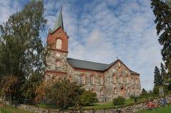 Herbstkirche lizenzfreies stockfoto