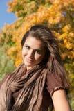 Herbstlächeln Lizenzfreies Stockfoto