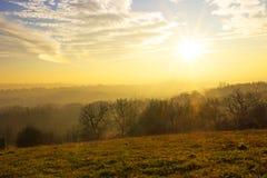 Herbstlandlandschaft stockfotos