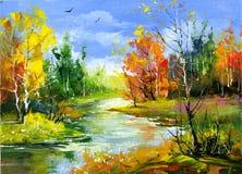 Herbstlandschaft lizenzfreie abbildung