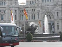 Herbstlandschaft im September in Madrid in Spanien Stockfoto