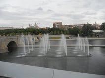 Herbstlandschaft im September in Madrid in Spanien Lizenzfreies Stockbild
