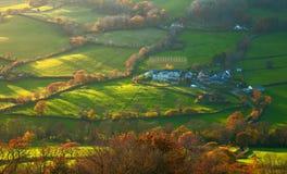 Herbstlandschaft in Ost-Devon Stockfotografie