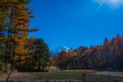 Herbstlandschaft von Japan Lizenzfreie Stockfotos