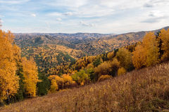 Herbstlandschaft von Tserkovks Berg Lizenzfreies Stockfoto
