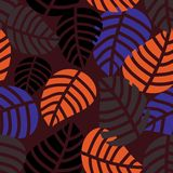 Herbstlaub übergibt gezogene Art, Illustration lizenzfreie abbildung