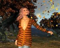 Herbstlaub im Herbstwald Lizenzfreies Stockbild