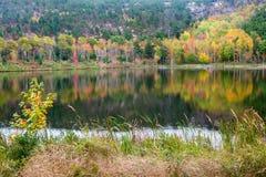 Herbstlaub-Reflexion im Acadia-Nationalpark Lizenzfreie Stockbilder