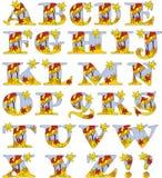 Herbstlaubalphabet - vier Jahreszeiten Stockfotos
