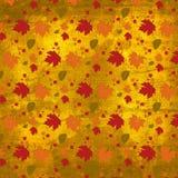 Herbstlaubbeschaffenheitshintergrund Lizenzfreie Stockfotografie