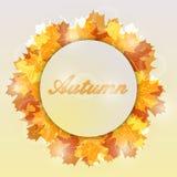 Herbstlaubhintergrund mit Platz für Ihren Text Lizenzfreie Abbildung