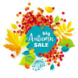 Herbstlaubvektor-Verkaufsfahne Lizenzfreies Stockfoto