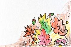 Herbstlaubzeichnen stockfoto