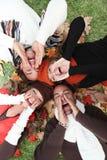 Herbstleute stockfotos