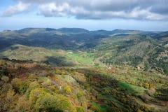 Herbstlich von Nebrodi-Park, Sizilien lizenzfreies stockfoto