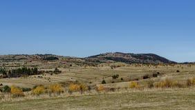 Herbstliche Farbe der Schönheit im Plana-Berg in Richtung zu Manastirishte-Spitze Lizenzfreie Stockfotos