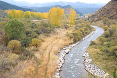 Herbstliche Landschaft Stockbilder