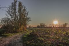Herbstliche Landschaft in Italien Lizenzfreie Stockfotografie
