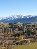 Herbstliche Landschaft, Neuseeland Lizenzfreies Stockfoto