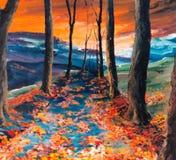 Herbstliche Straße Stockfoto