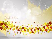 Herbstlicher Blatthintergrund, Vektorillustration Lizenzfreie Stockfotos