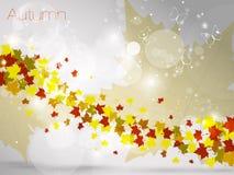 Herbstlicher Blatthintergrund, Vektorillustration Stockbilder