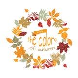 Herbstlicher Kranz stock abbildung