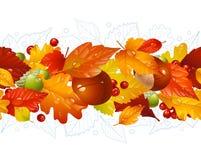 Herbstlicher nahtloser horizontaler Hintergrund Lizenzfreie Stockfotos