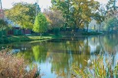 Herbstlicher See Lizenzfreies Stockbild