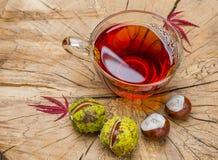 Herbstlicher Tee Stockbild