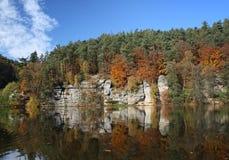 Herbstlicher Teich Lizenzfreies Stockbild
