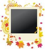 Herbstliches grunge polaroidfotofeld Stockbild