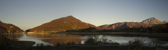 Herbstliches Panorama Stockbild