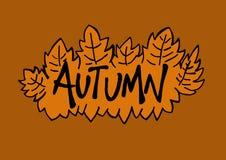 Herbstlogo Stockbild