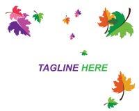 Herbstlogo-Vektorschablone stock abbildung