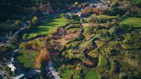 Herbstluftschuß in Stowe stock footage