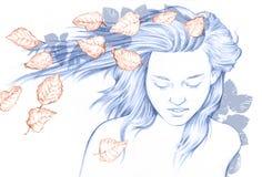 Herbstmädchen Стоковое Изображение RF
