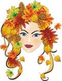 Herbstmädchen Stockbild