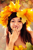 Herbstmädchen. Lizenzfreie Stockfotografie